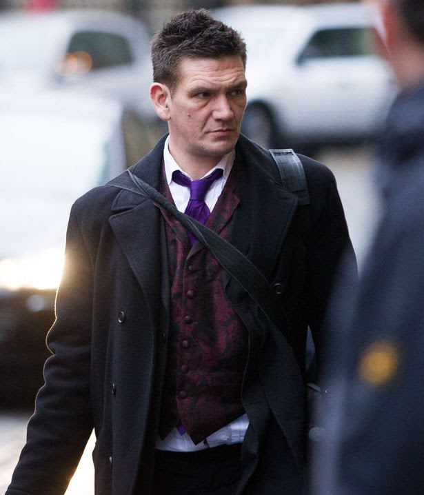 Simon Arthur James arrives at Bristol Crown Court, Bristol.