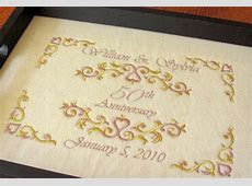 50th anniversary gift serving tray personalized by embroideredjoys