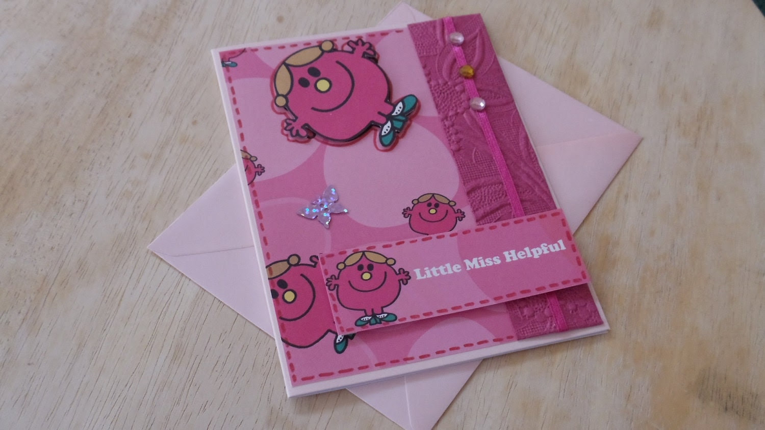 Special Offer - Reduced Little 'Miss Helpful' Thank You Card