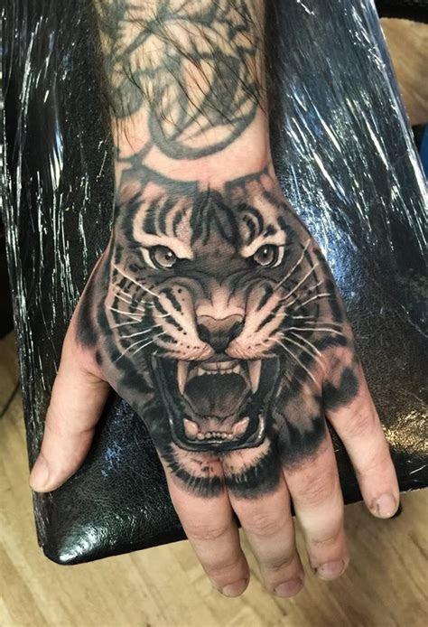 tiger hand tattoo ideas pinterest arm