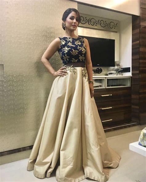 Hina Khan seen wearing stunning gown by KALKI Fashion and