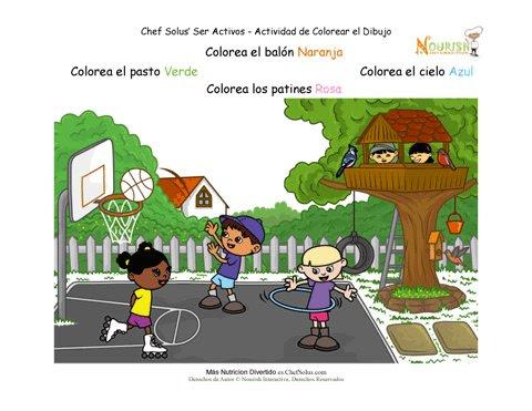 Actividad Preescolar De Seguir La Instrucciones Para Niños