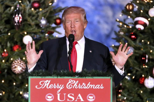 Donald Trump a livré un discours lors d'un... (PHOTO AP)