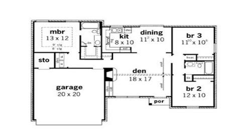 simple small house floor plans  bedroom simple small