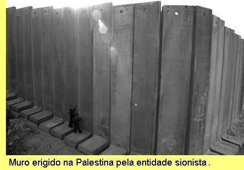 Muro na Palestina.