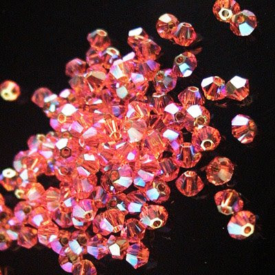 2775301s23383 Crystallized - Swarovski Elements Bead - 3 mm Faceted Xilion Bicone (5328) - Sun AB2 (36)