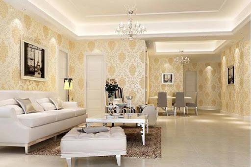 Giấy dán tường phong cách nội thất cổ điển Châu Âu