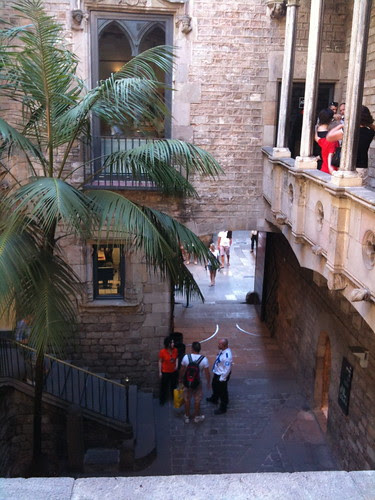 In the interior courtyard, Picasso Museum