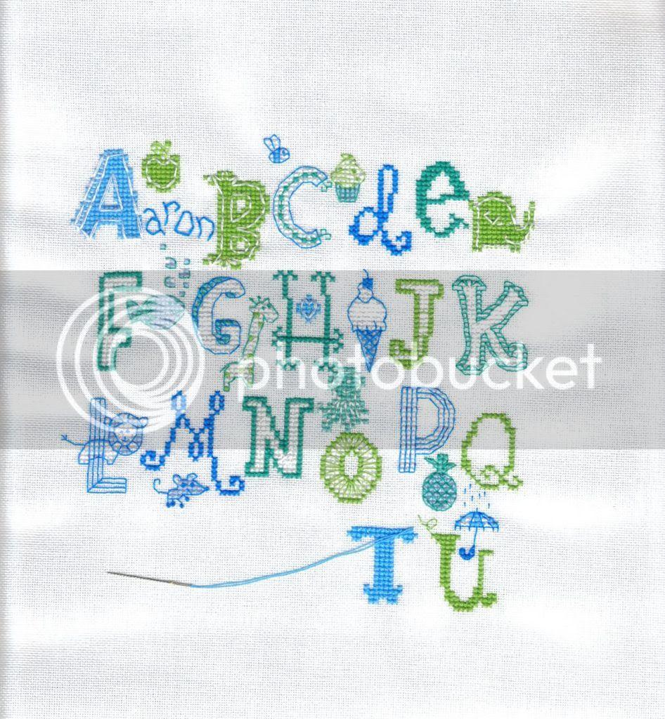 Turquoise Alphabet 03/07/12