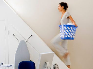 secret signs of fitness laundry stairs