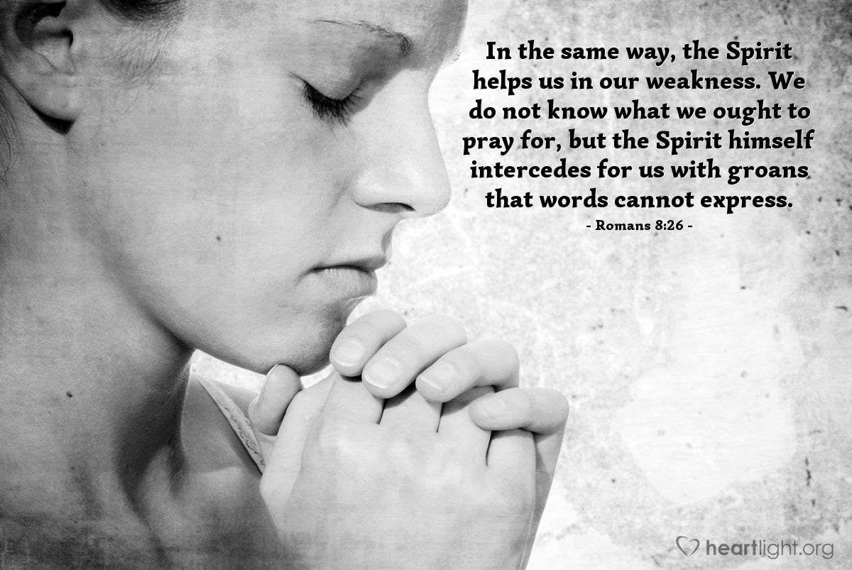 Illustration of Romans 8:26