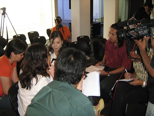 Carmen being interviewed