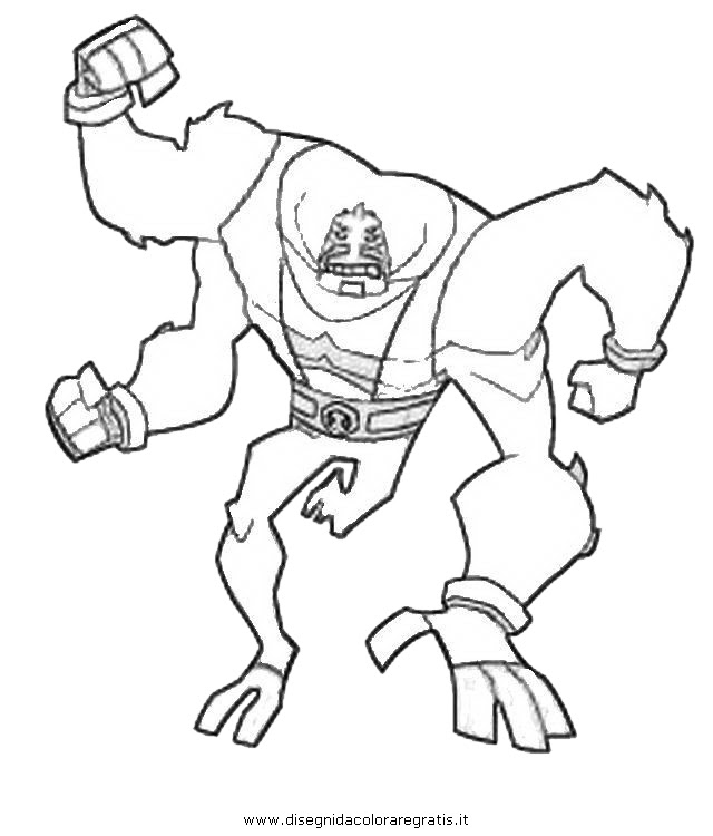 Ben 10 Coloring Pages Four Arms Coloring And Drawing