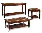 Midway Dining Table Set with Slate Inlay | Von Furniture