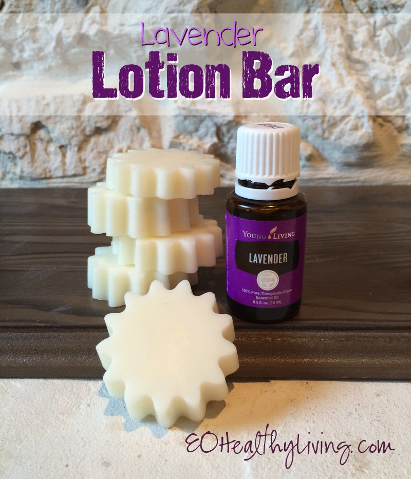 DIY Home Lavender Lotion Bars made with Young Living Lavender essential oil