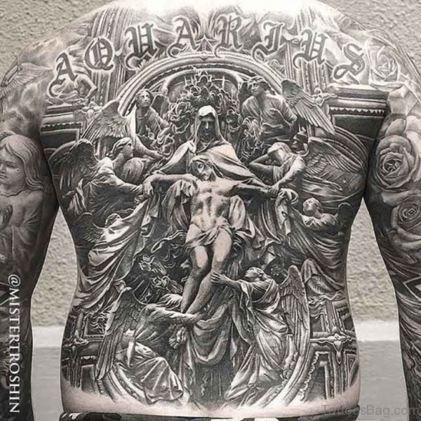 70 Fabulous Religious Tattoos For Back