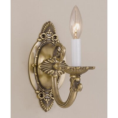 Crystorama Traditional Wall Sconce Candle Wall Sconce in Antique ...