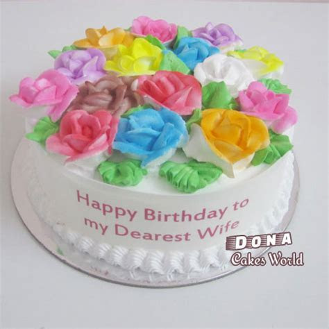 Special Vanilla Flower Cake Delivery Chennai, Order Cake