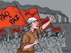 ilustração marcha de mulheres