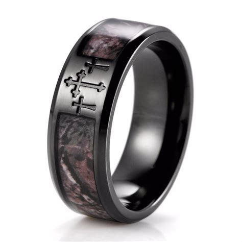 15 Inspirations of Men's Hunting Wedding Bands