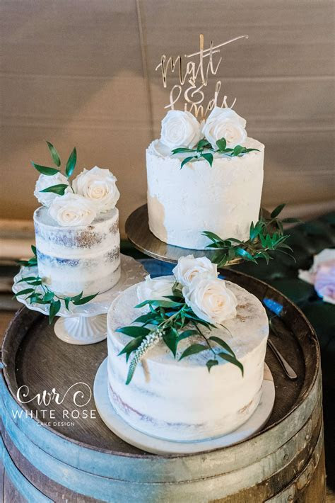White Rose Cake Design   Naked and Semi Naked Wedding