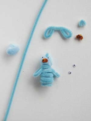 bluebird finger puppet Easy Easter Crafts: Easter Finger Puppets