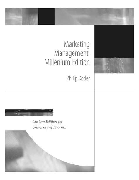 Ebook Free Download: Marketing Management Millenium