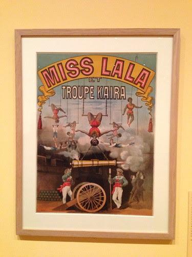 Poster from *Degas's Miss La La at the Cirque Fernando* exhibit, Morgan Library
