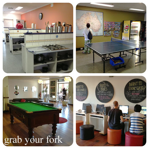 adelaide yha kitchen, ping pong table, pool table