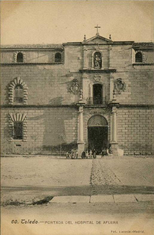 Hospital Tavera hacia 1900. Foto Lacoste