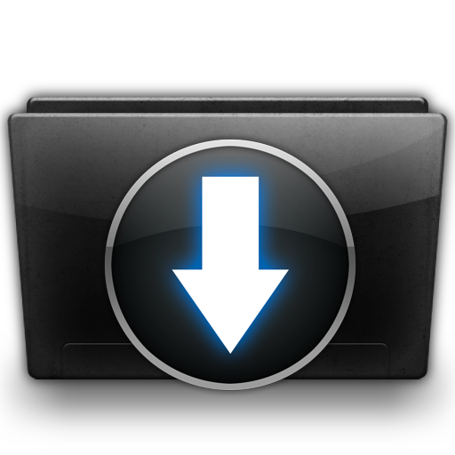 http://www.veryicon.com/icon/png/System/Black%20Glossy/Downloads%20Folder.png