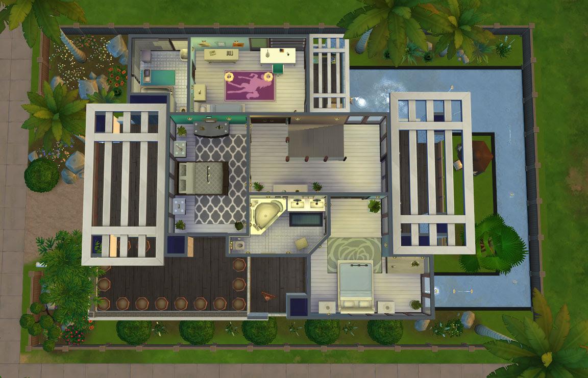 The Sims 4 House Design Plans Modern Design