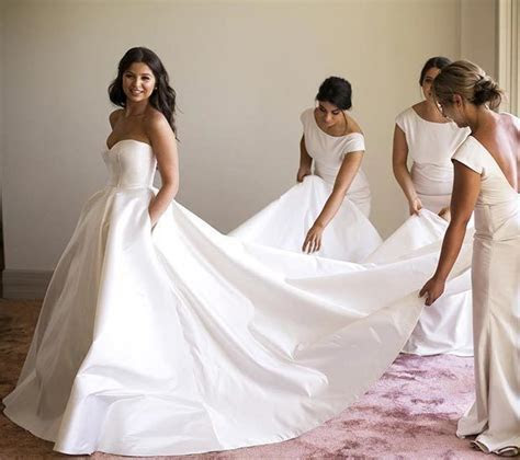 Top 25  best Satin wedding gowns ideas on Pinterest   Lace