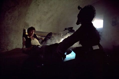 Greedo shoots...never.  Whatever.