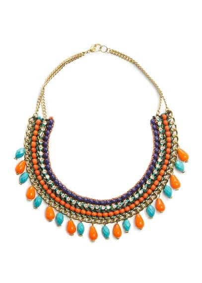 Multicolored ethnic necklace
