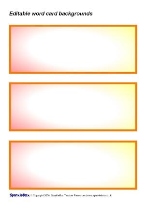 Editable Primary Classroom Flash Cards - SparkleBox