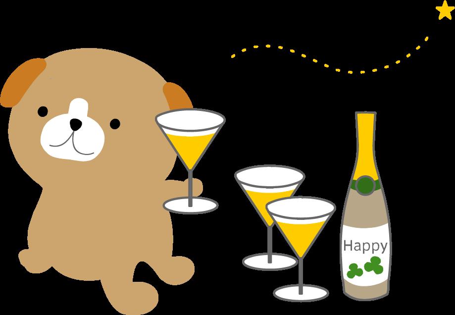 乾杯お祝いのイラスト無料素材フリー素材無料イラスト