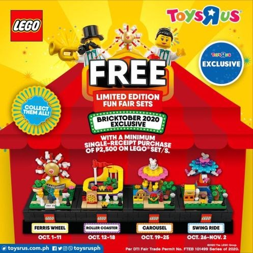 """Get a FREE Toys""""R""""Us Philippines EXCLUSIVE LIMITED EDITION Lego Fun Fair Set when you purchase at least P2,500 on any Lego set"""