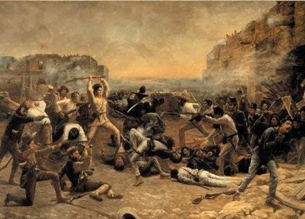 Battle of the Alamo, a painting