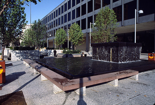 Pedestrian mall, Martin Luther King Library, DC