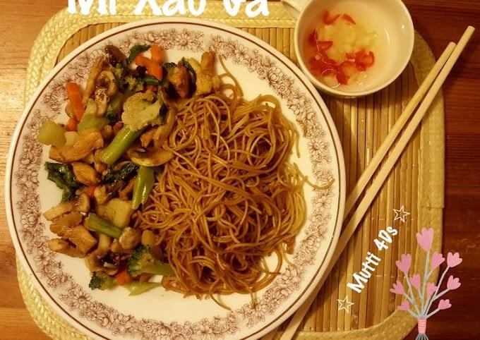 Resep Praktis Mi Xao Ga - Mie Goreng Ayam Khas Vietnam Cita Rasa Tinggi