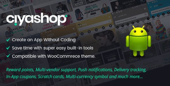 CiyaShop v1.2.0 - Native Android Application based on WooCommerce