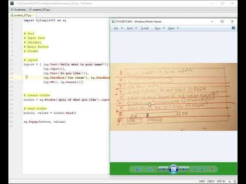 Lesson - Various Widgets -Tutorial - Python GUI Programming using