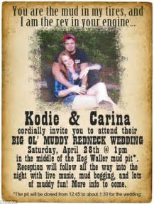 Florida couple have 'muddy redneck wedding' at Hog Waller
