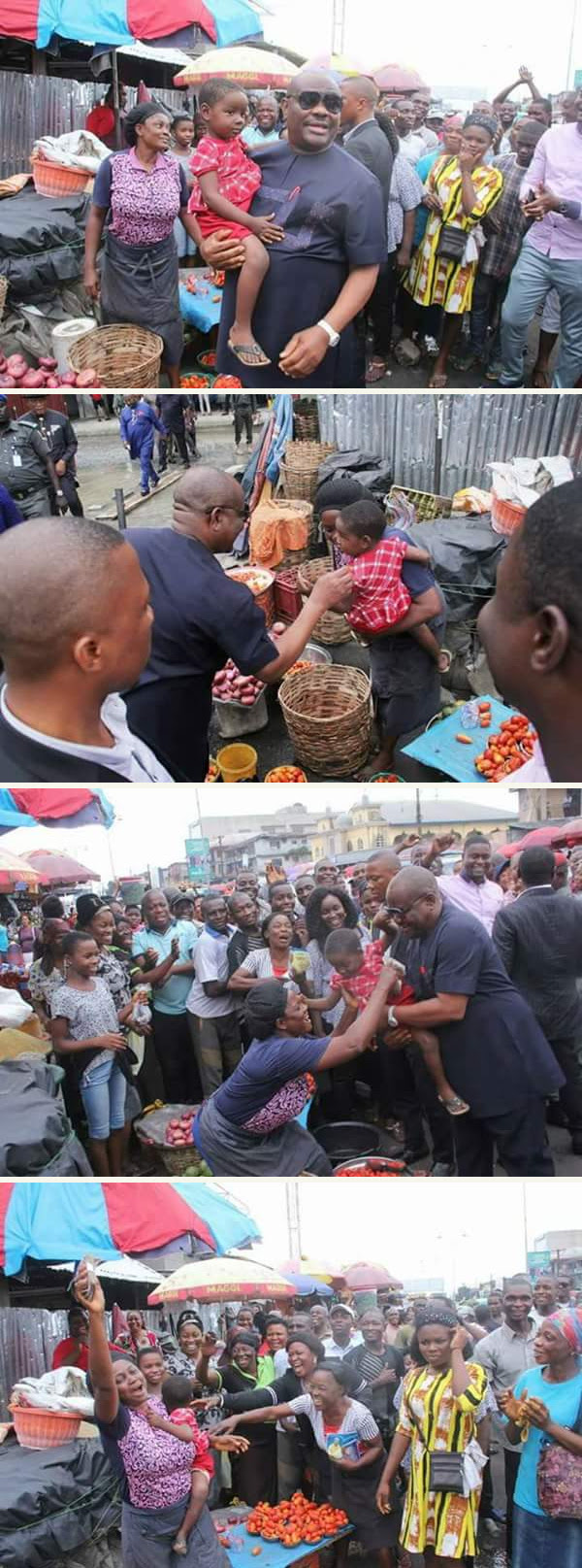 Governor Wike Storms Mile 1 Market. See What He Did (Photos)