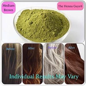 Amazon.com : MEDIUM BROWN Henna Hair  Beard Dye / Color  2 Pack  The Henna Guys® : Henna Guys
