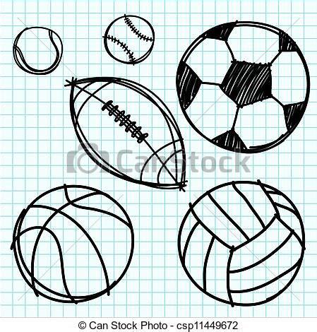 sport ball hand draw  graph paper sport ball hand draw