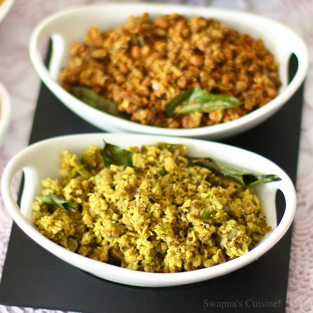 Cherupayar Thoran / Green Gram Stir fried with Coconut