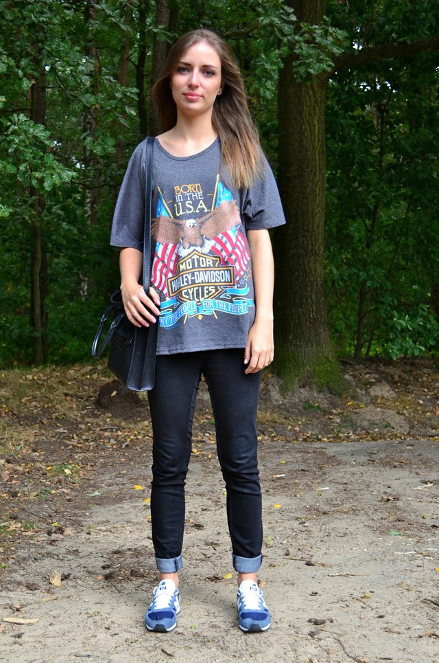 born in the usa oasap harley davidson tee t shirt new balance sneakers asos fashion blogger turn it inside out belgium outfit outfitpost inspiration