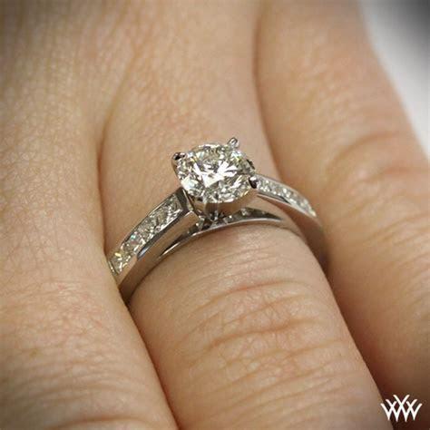 Channel Set Diamond Engagement Ring   1083